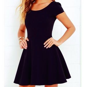 Little Black Dress-  Stretch Skater Dress -XL